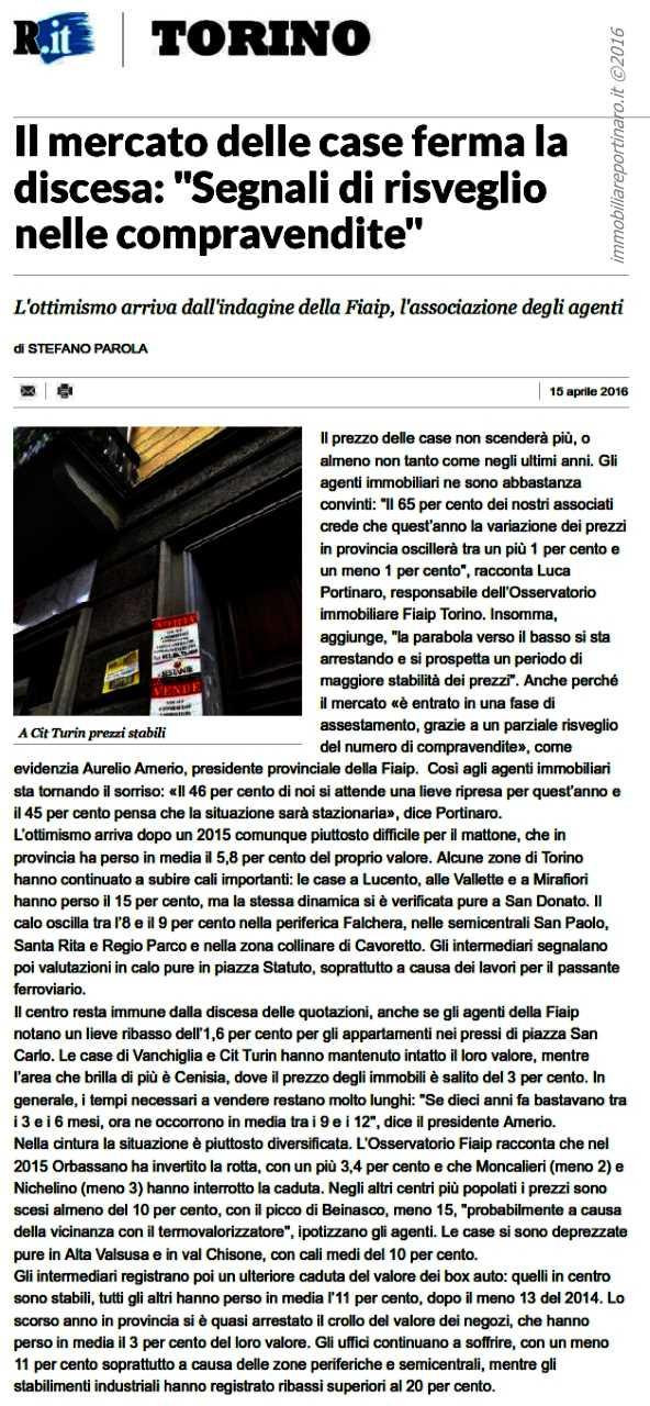 articolo La Repubblica sull'Osservatorio Immobiliare 2015