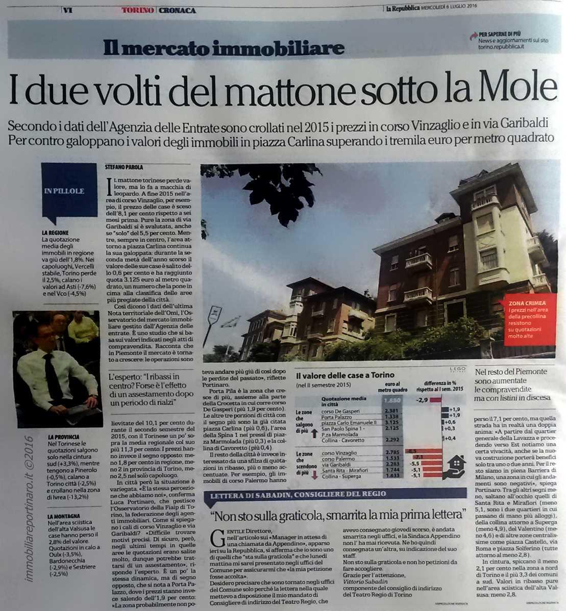 Sul quotidiano La Repubblica l'intervista a Luca Portinaro
