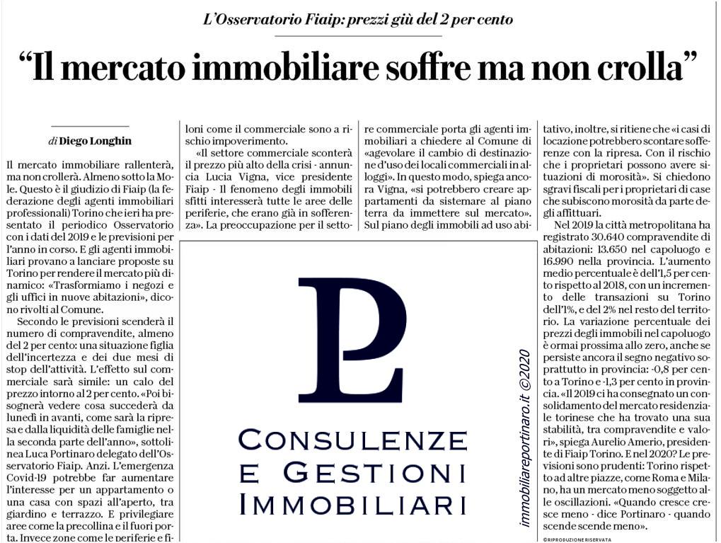 Articolo Repubblica, Il mercato Immobiliare a Torino